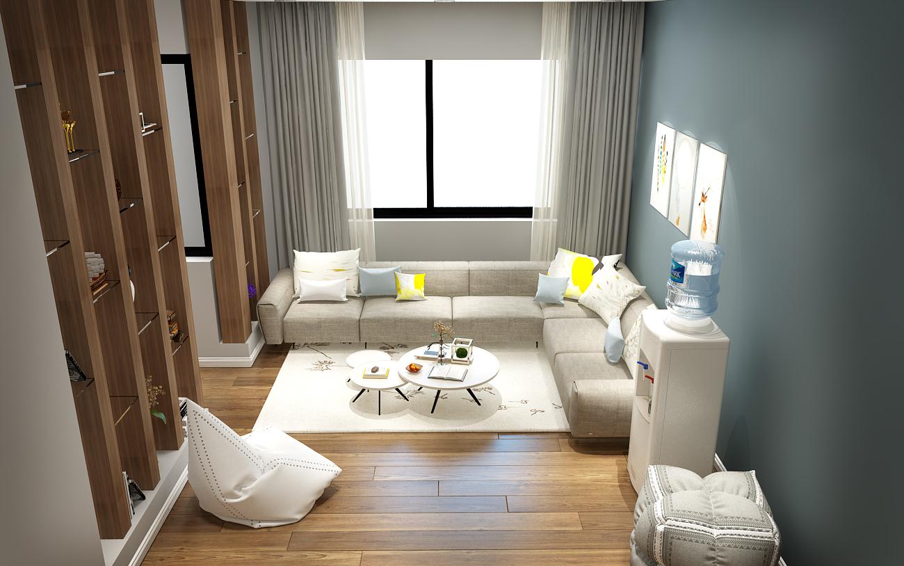 Thiết kế phòng khách hiện đại nhà anh Thắng - Gia Lâm