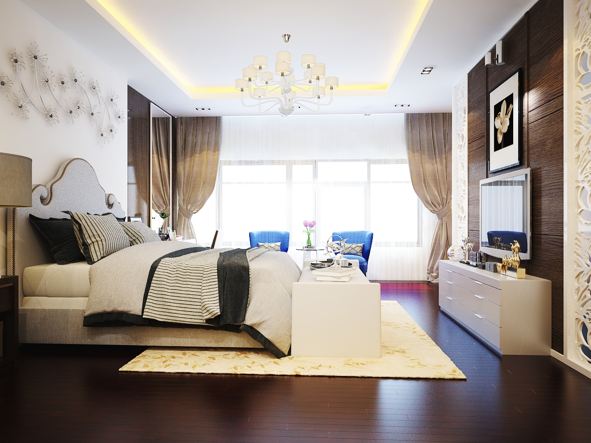 Phòng ngủ tân cổ điển sang trọng nhà chú Tuấn - Điện Biên