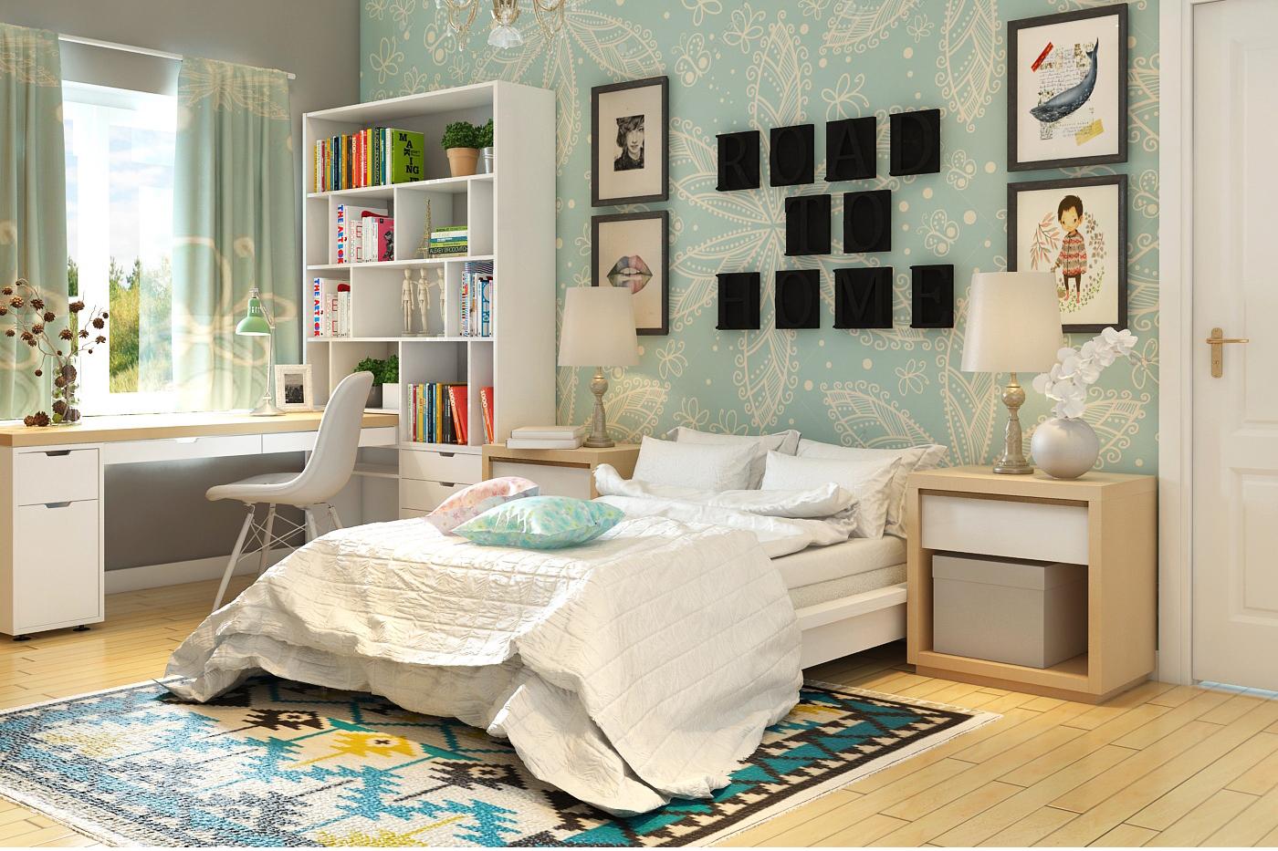Nội thất phòng ngủ bé gái con chú Tuấn - Điện Biên