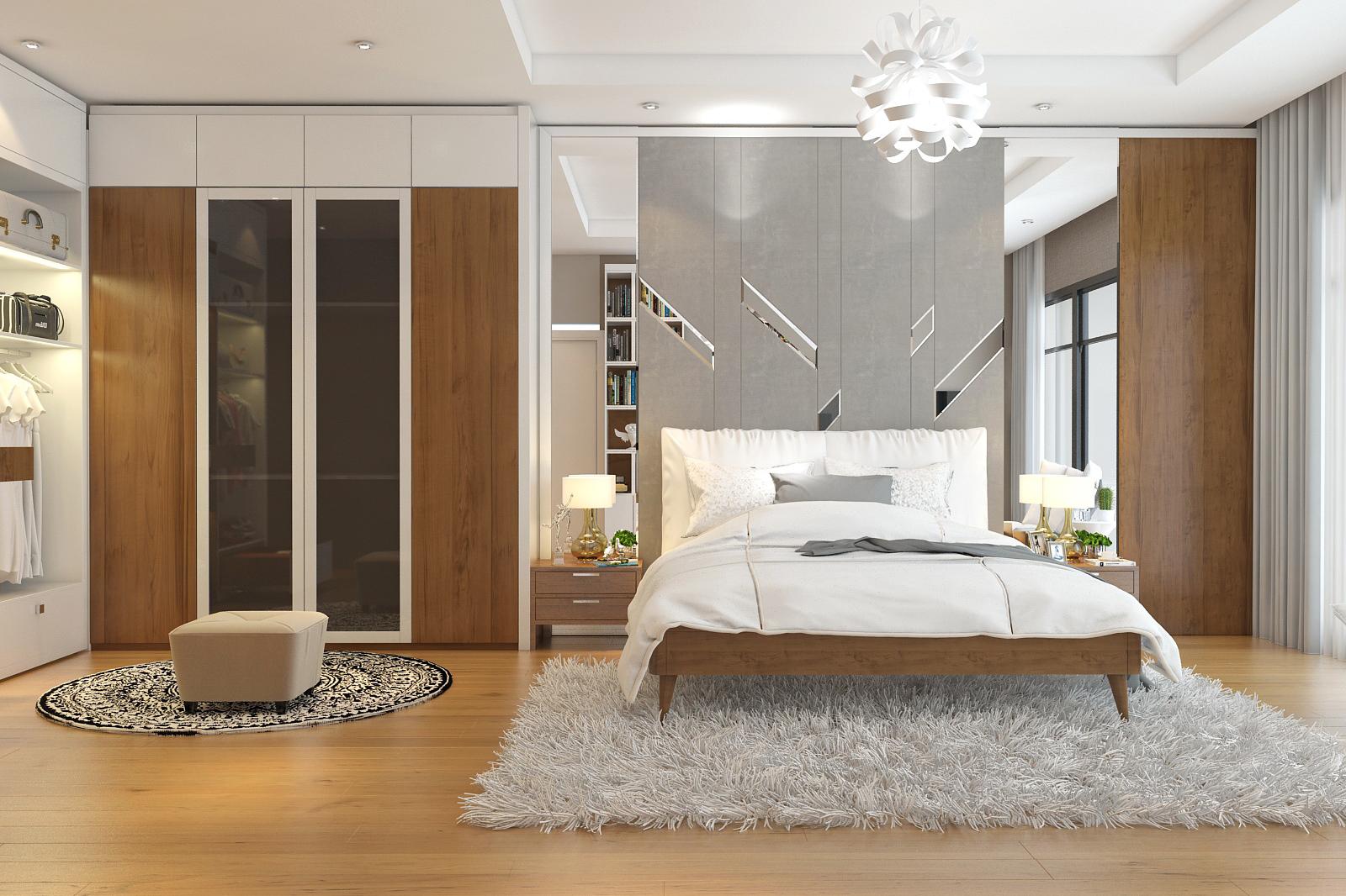 Thiết kế nội thất phòng ngủ nhà chú Tuấn - Điện Biên
