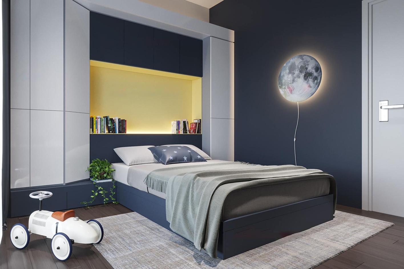 Phòng ngủ trẻ em hiện đại chung cư Mỹ Đình Plaza 2